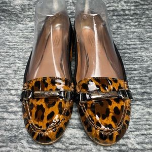 Coach Berdina Patent Leather Ocelot Print Loafer